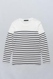 Border Long sleeve T -shirts WT