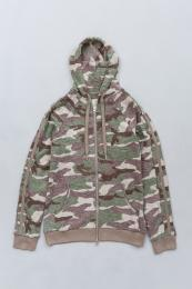 Camouflage Pile Hoody KH