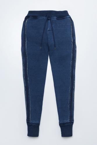 Brushed Back Sweat Denim Pants
