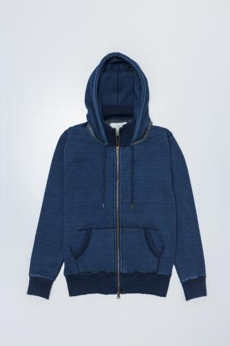 Brushed Back Sweat Denim Hoodie